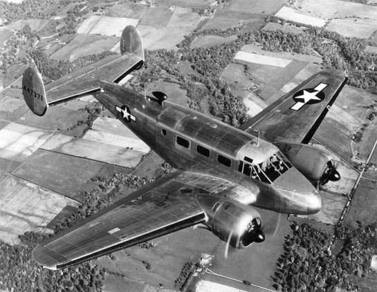 A twin-engine Beechcraft