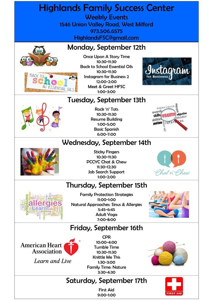 Week of September 12
