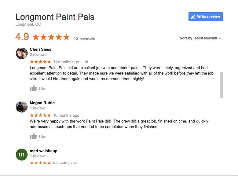 Paint Pals Longmont Reviews