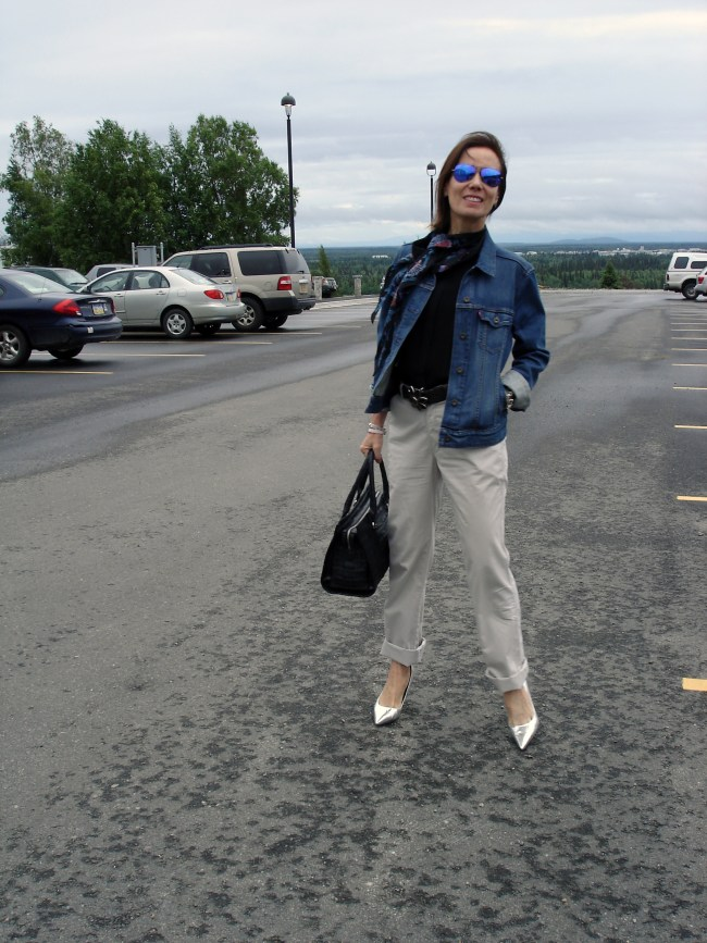 Alaskan blogger in Casual Friday outfit
