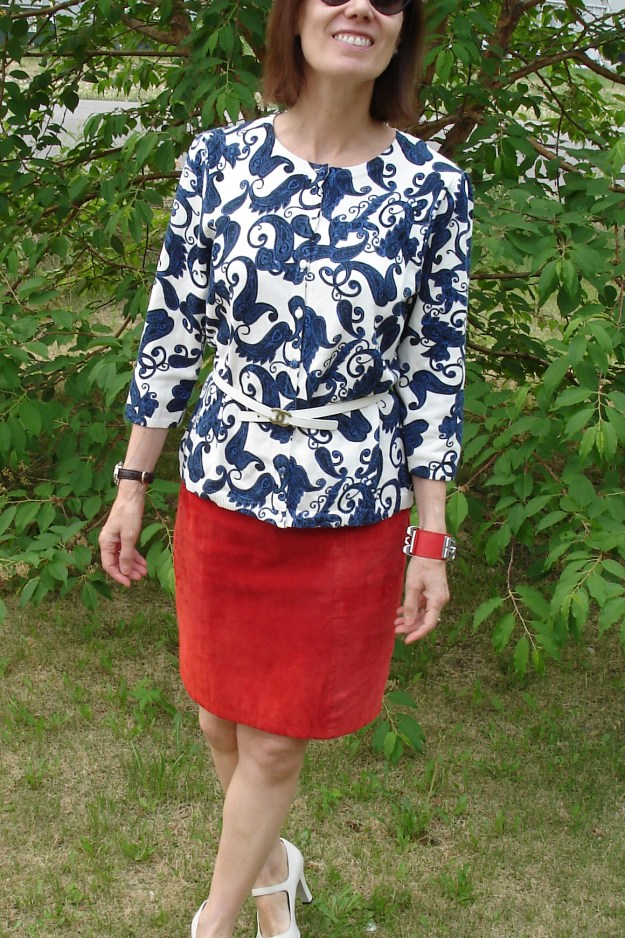 over 50 years old style blogger in patriotic look
