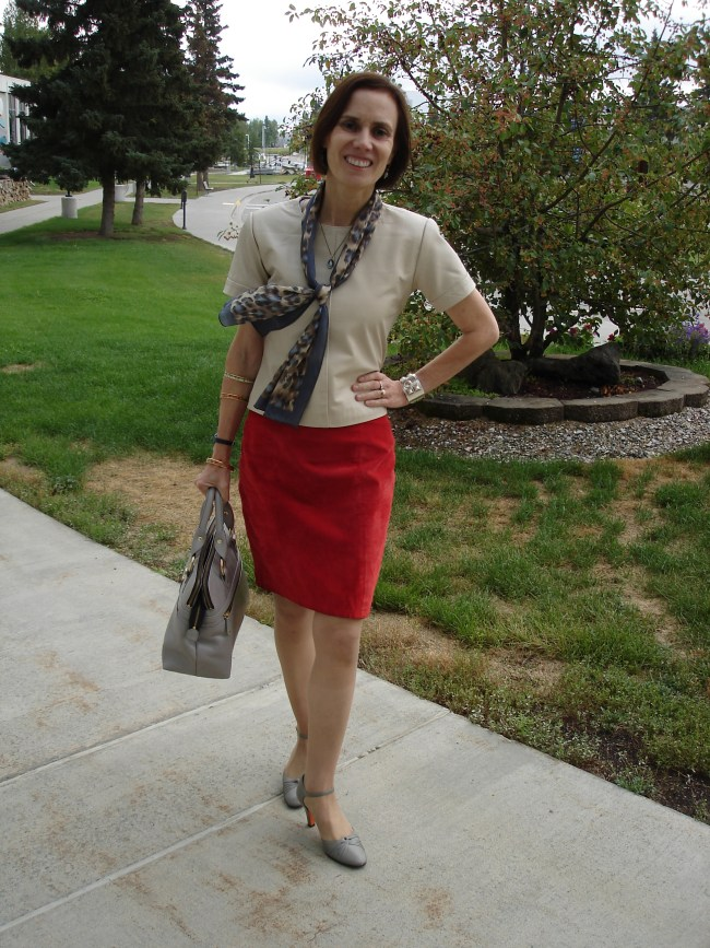 #styleover40 leather with suede work outfit | High Latitude Style | http://www.highlatitudestyle.com