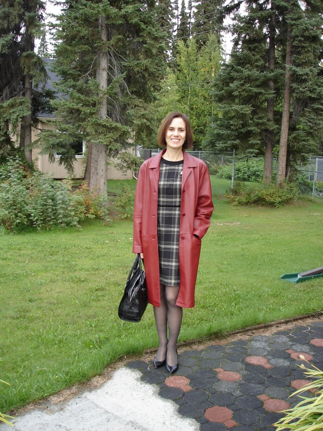 tartan sheath with leather coat