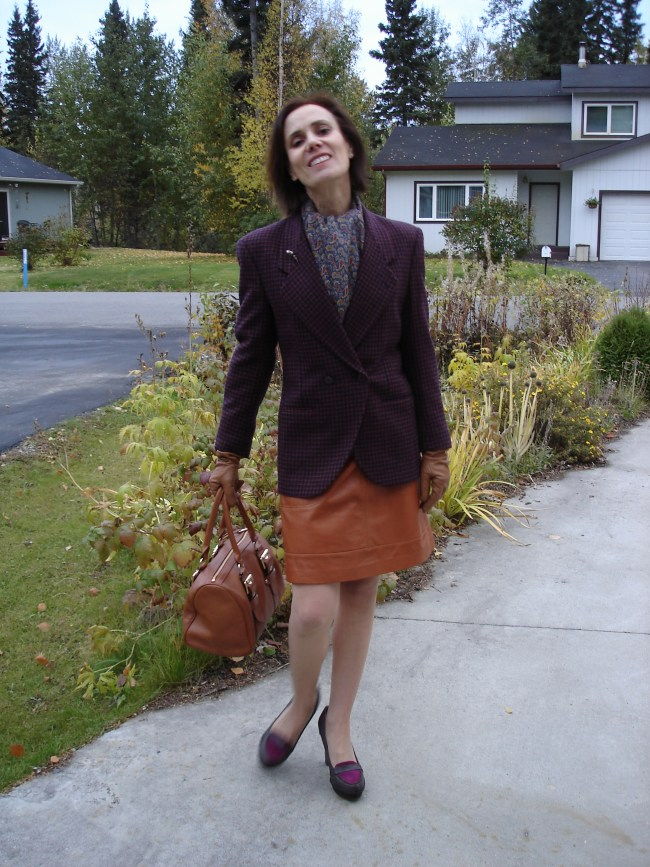 midlife woman in fall outerwear