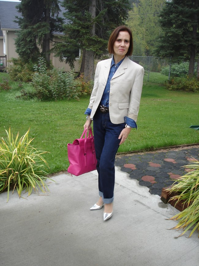 fashion over 40 woman in Casual Friday  work look