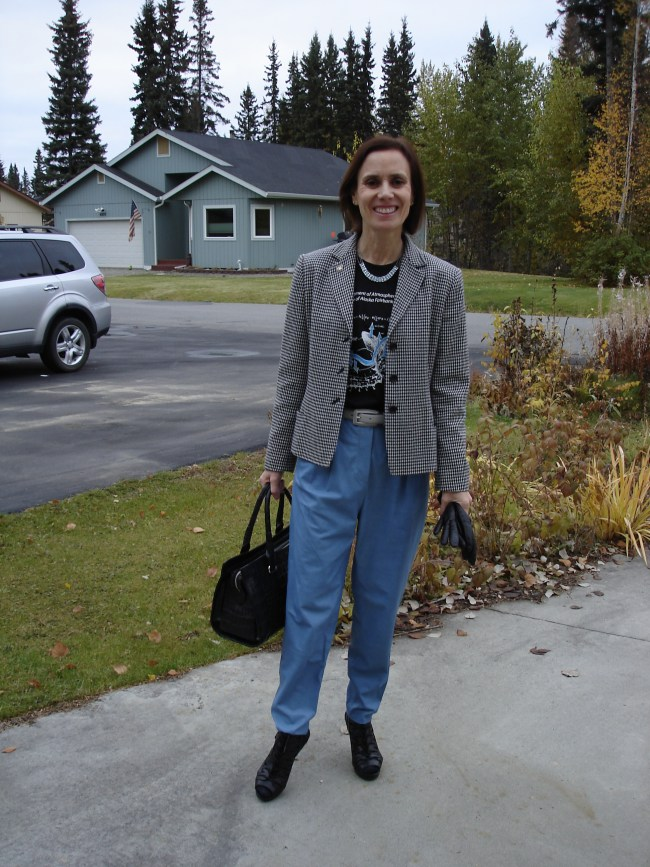 #over40 Casual office look with college T-shirt   High Latitude Style   http://www.highlatitudestyle.com