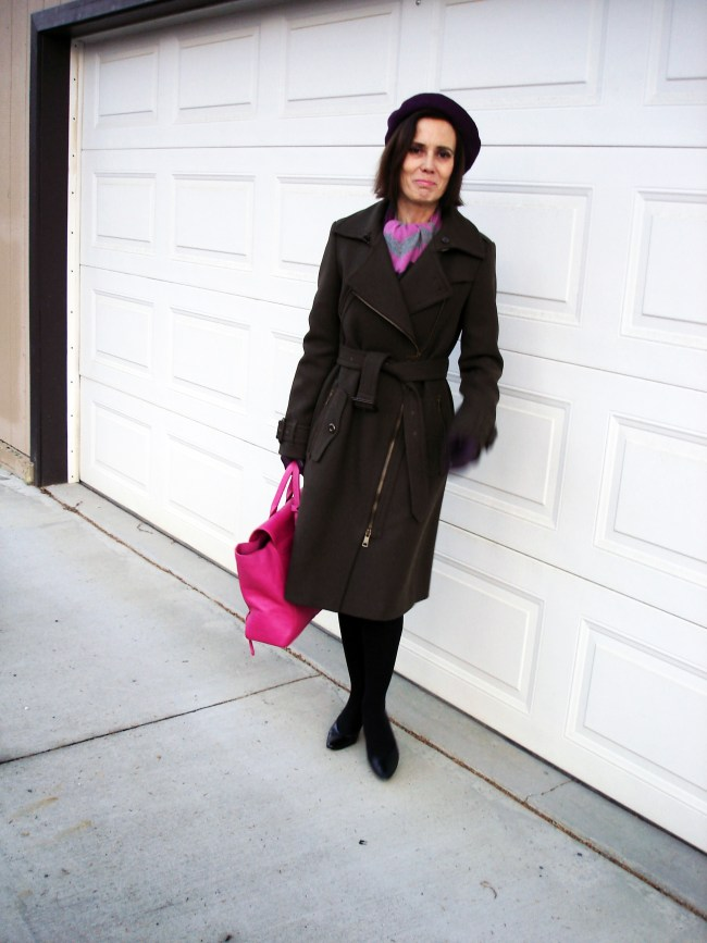 #fashionover50 Winter city outfit for mature women