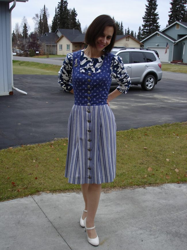 stylist showing mixing prints and patterns