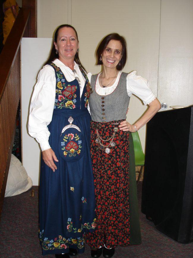 Norwegian dirndl (left) and South Tyrolean dirndl
