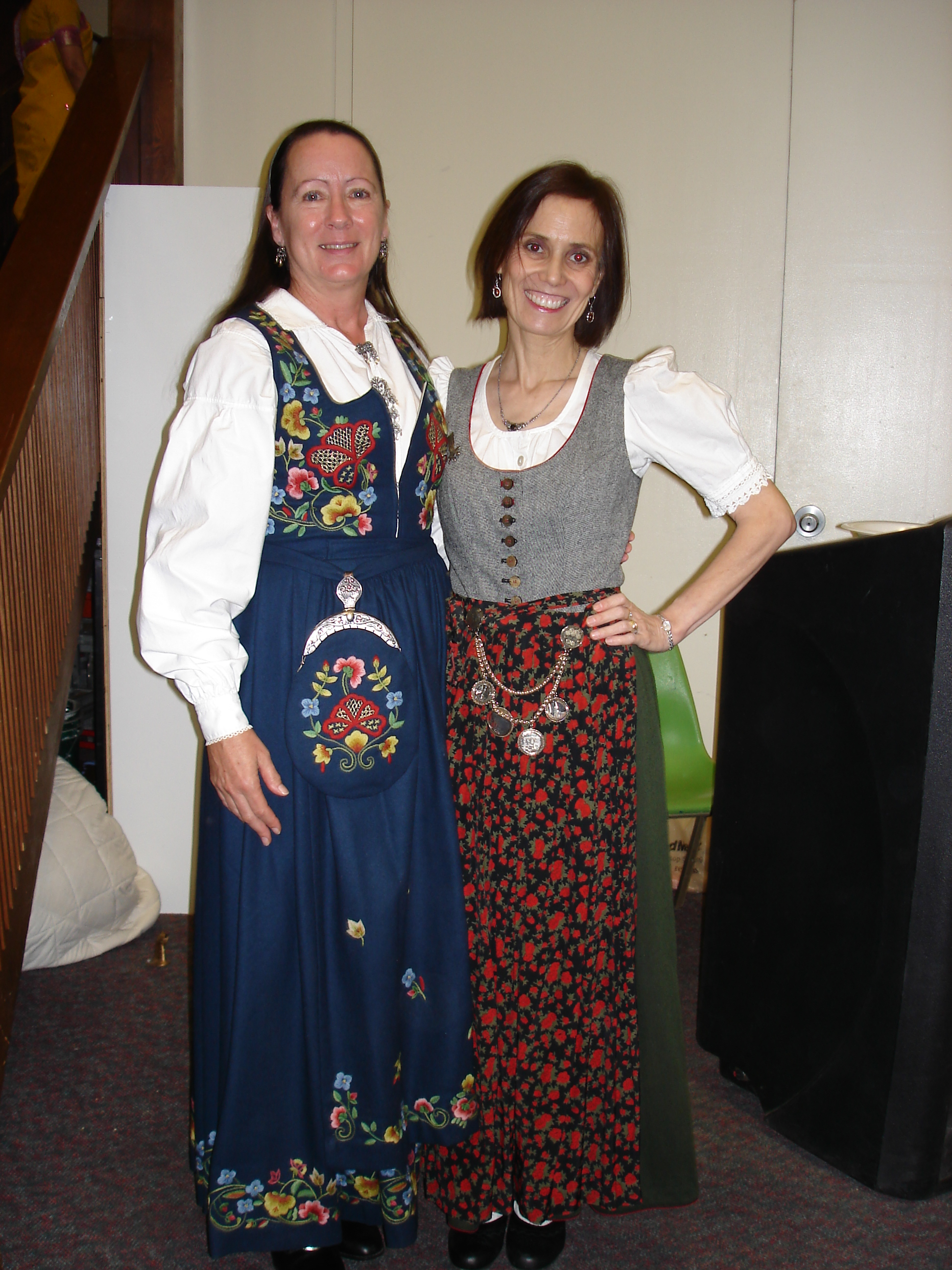 #over40 Norwegian dirndl (left) and South Tyrolean dirndl | High Latitude Style | http://www.highlatitudestyle.com