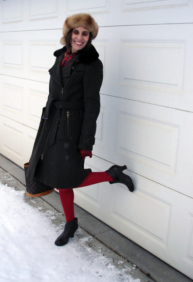 fashion over 40 woman in styled outerwear