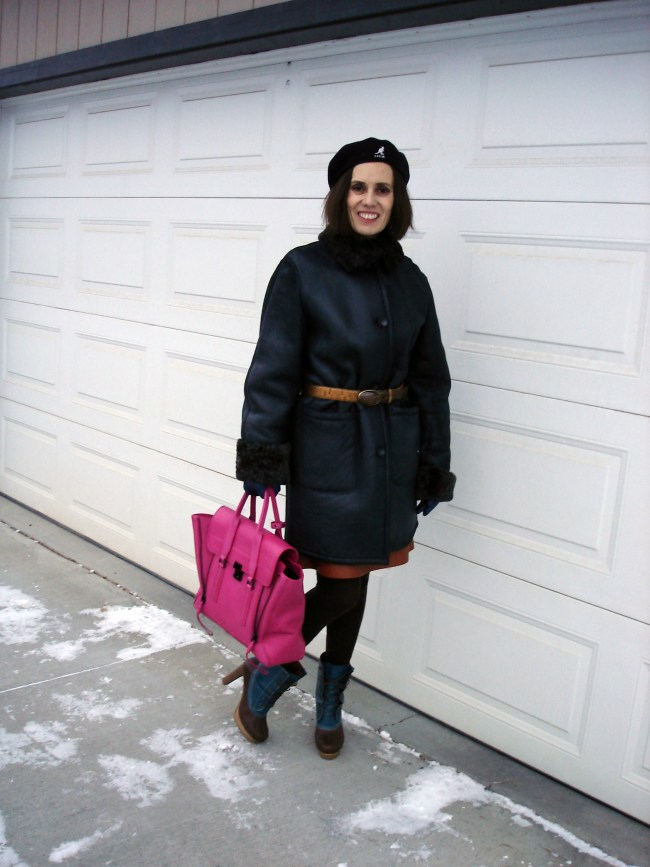 older woman in styled winter outerwear