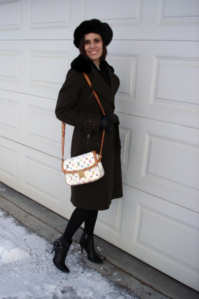 style book author in winter outerwear