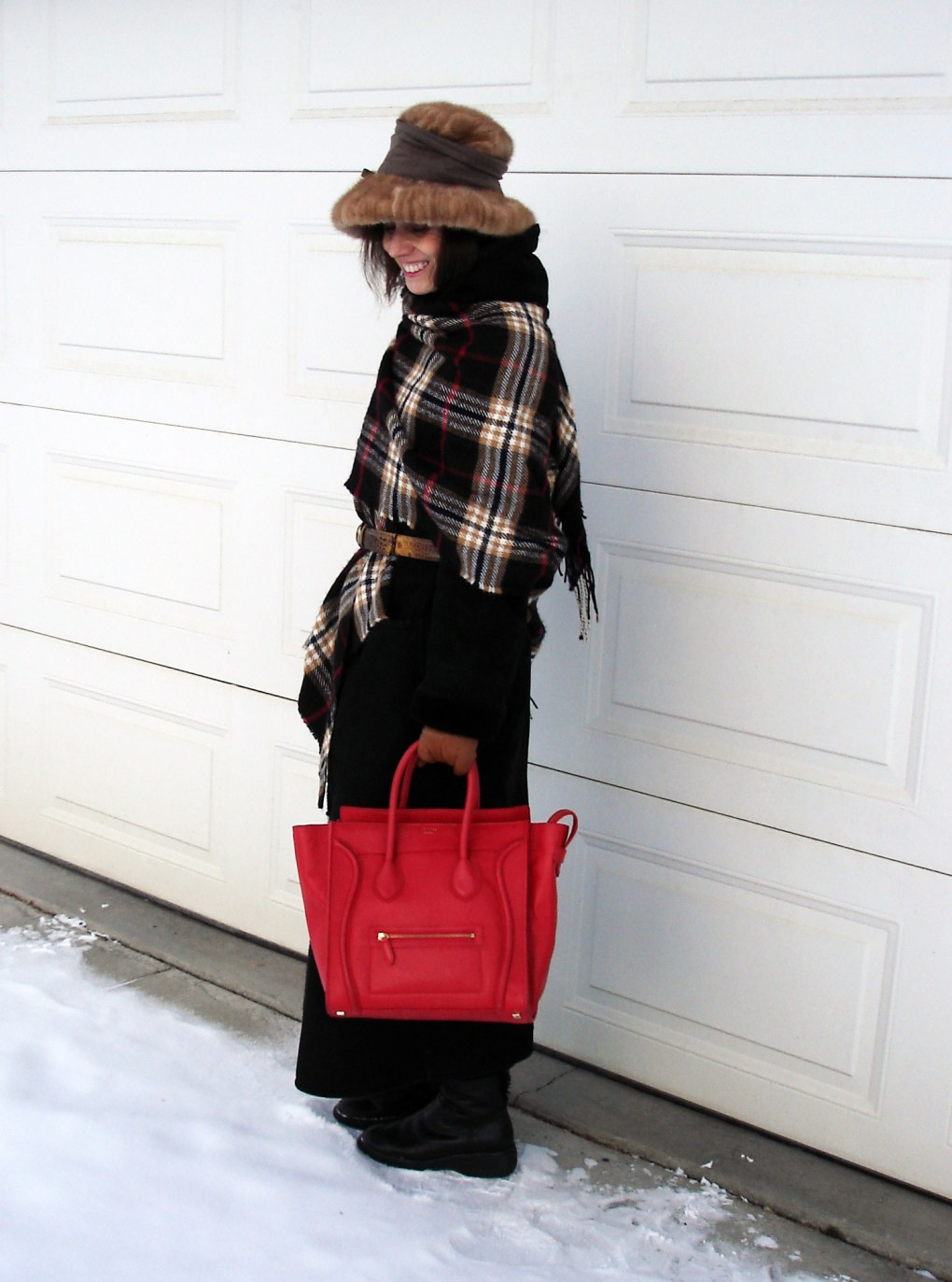 midlife women dressed for frigid cold weather