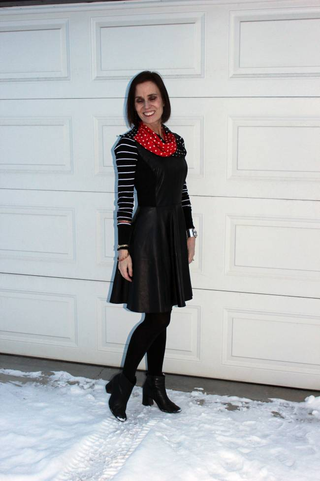 #over40 Mature woman in fit-and-flare dress | High Latitude Style | http://www.highlatitudestyle.com