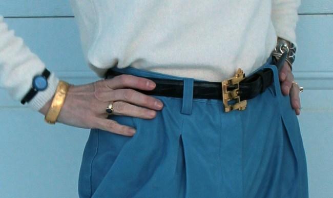 #accessoriesover50 mature jewelry and statement belt