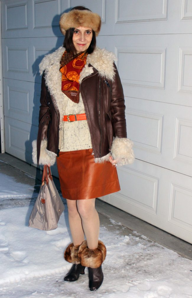 influencer in street style outerwear
