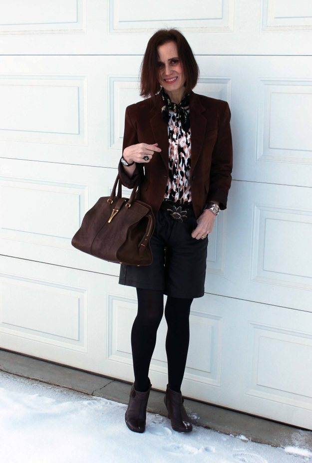 High Latitude Style blogger in a blazer and pants faux suit office look