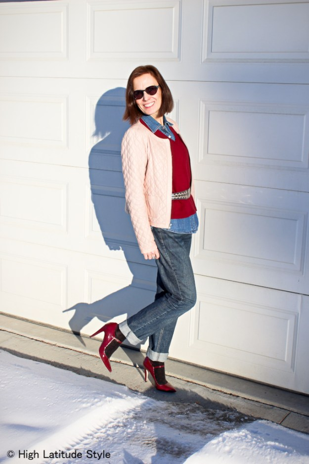Casual work outfit modeled by Nicole of High Latitude Style