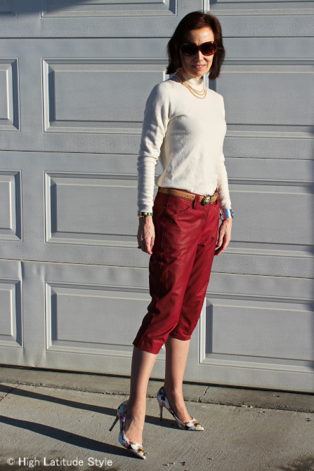 mature woman in cropped pants