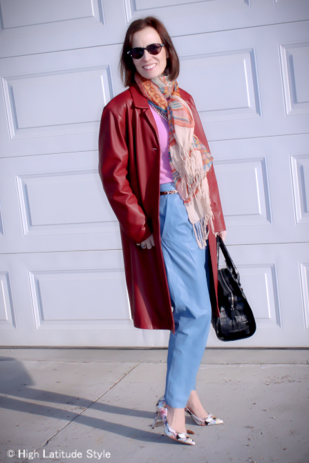 #midlifestyle #trendsover50 mature woman looking posh chic in the pastel spring trend