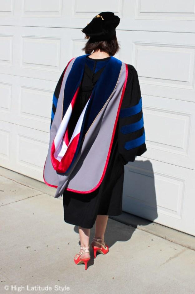 professor in doctoral regalia