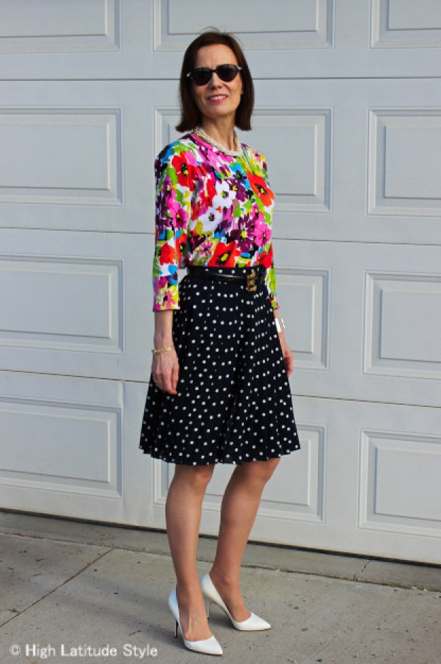 #advancedstyle woman dressed for a brunch in honor of mothers
