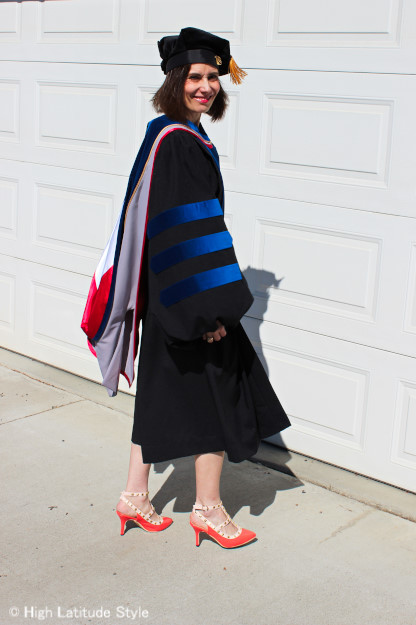 #graduation #regalia doctoral gown | High Latitude Style | http://www.highlatitudestyle.com