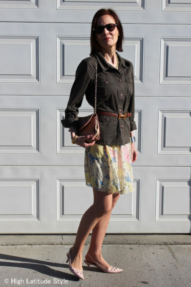 #over40fashion High Latitude Style in a pastel skirt