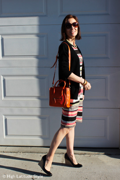 over 40 style Commencement guest outfit