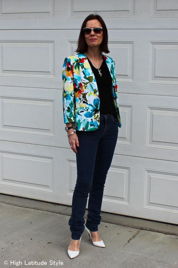 #floralBlazer #JBrandJeans