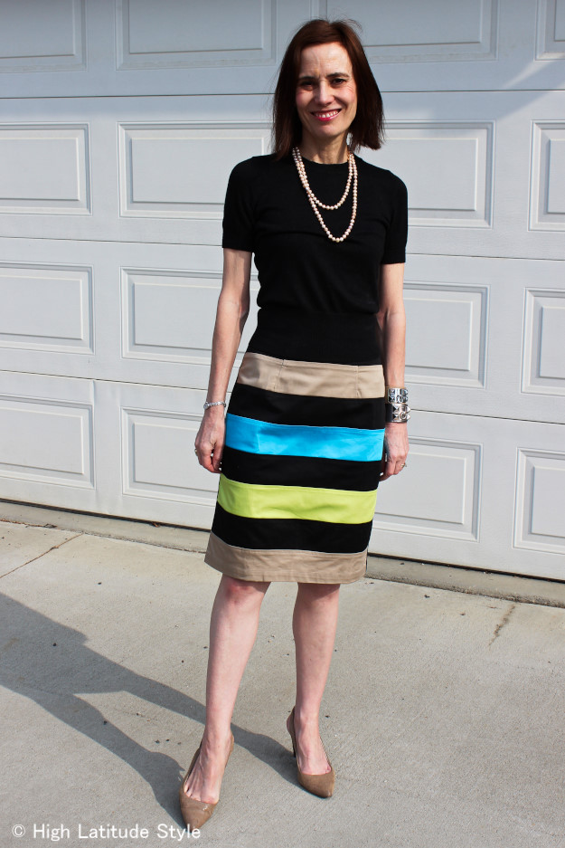 #advancedstyle woman in custom made skirt