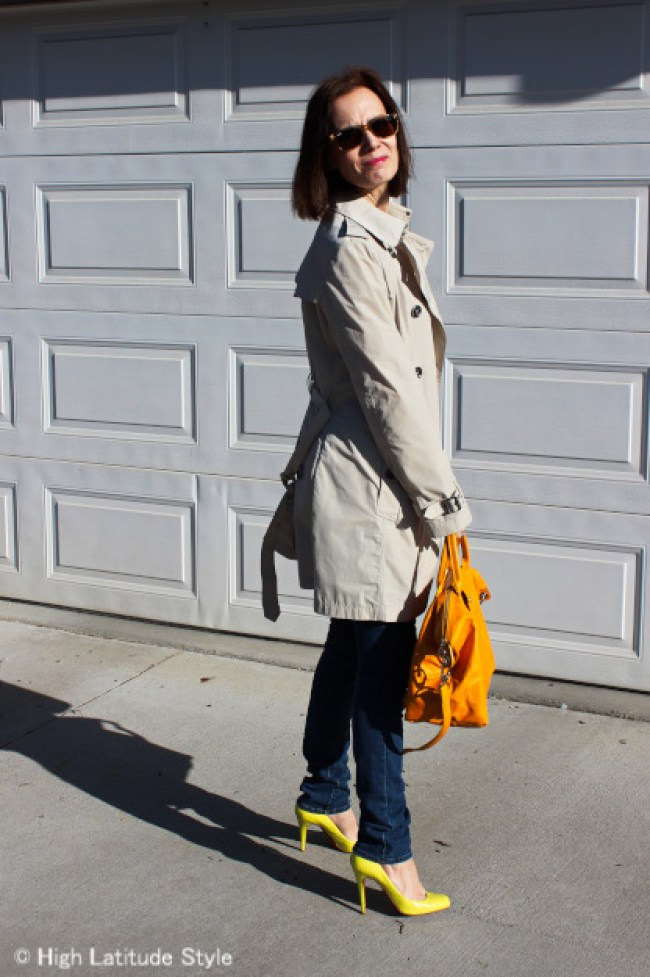 #fashionover50 woman in a casual posh OOTD