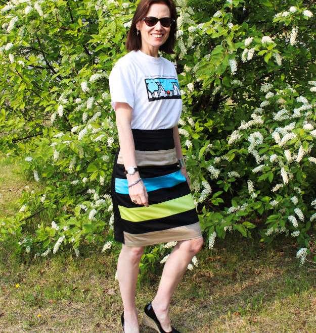 #eShakti skirt # L.K. Bennett wedges #streetstyle http://www.highlatitudestyle.com