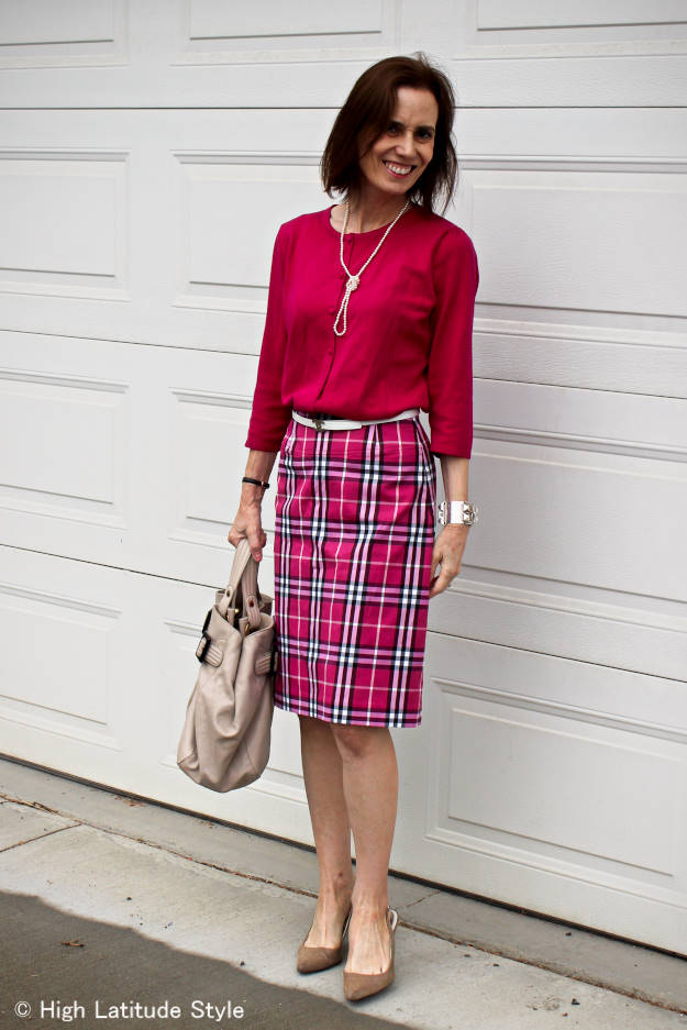 fashion over 40 woman in Euro style work outfit