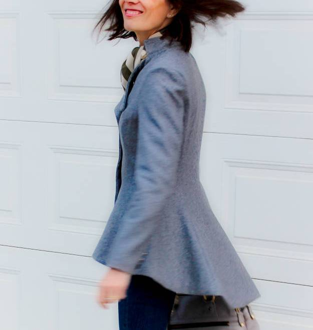 #LookbookStore Fit-and-Flare blazer | High Latitude Style | http://shrsl.com/?~9hbs