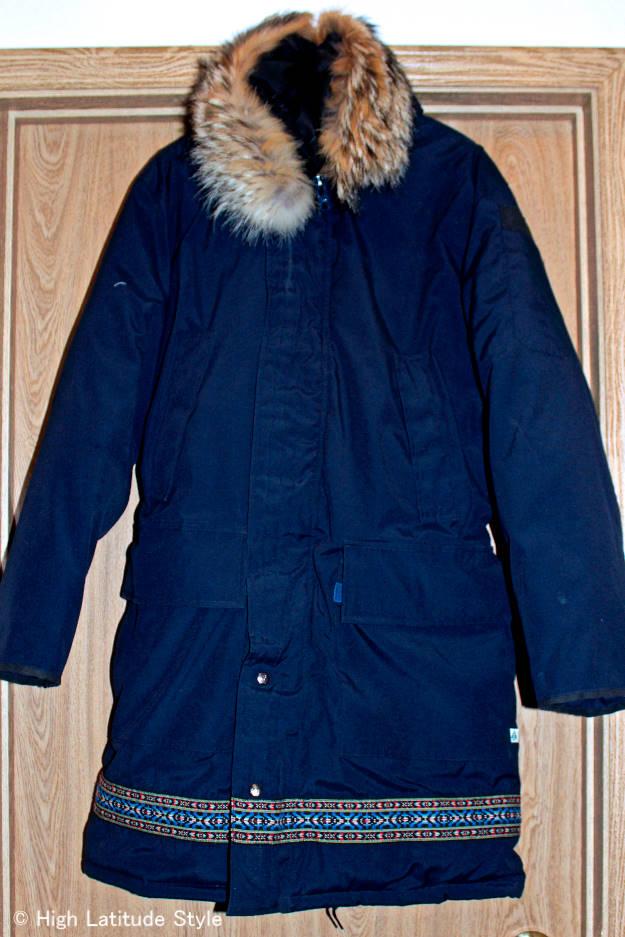 #Alaskatravel #advancedfashion front view of a women down coat
