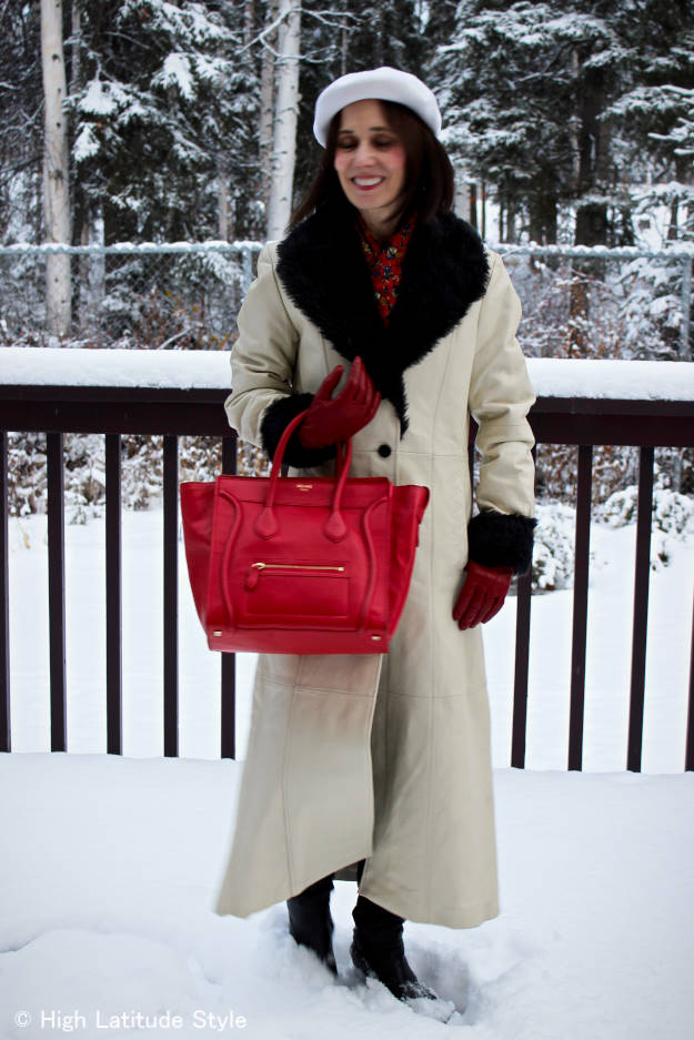 #fashionover50 woman in style outerwear
