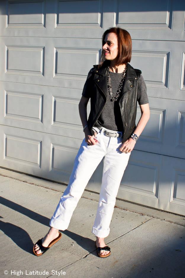 #streetstyle #itShoes #leathervest #HighLatitudeStyle http://www.highlatitudestyle.com