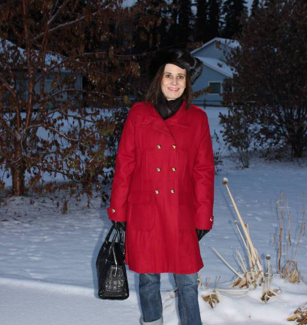 #over40 Winter coat in red for a gray day | High Latitude Style http://www.highlatitudestyle.com