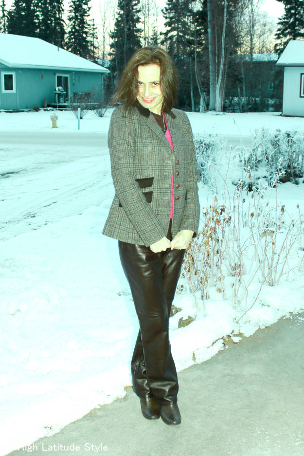 #fashionover40 woman in a timeless winter outfit
