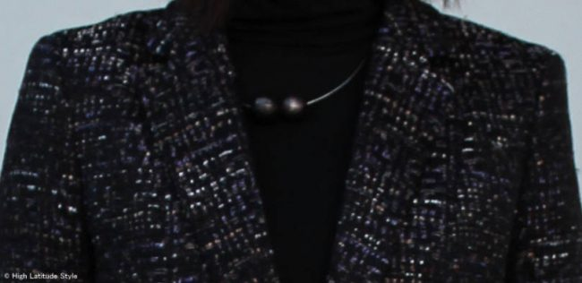 details of posh corporate office party outfit
