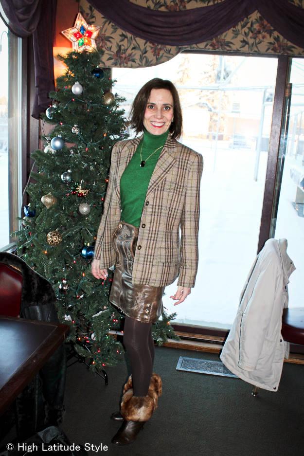 #maturefashion Styling a Lederhosentuerle statement skirt