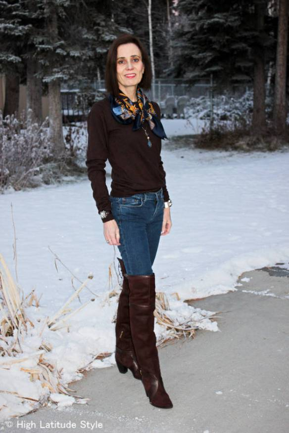 5bda71fa20 How to wear over-the-knee boots right over 40 High Latitude Style ...