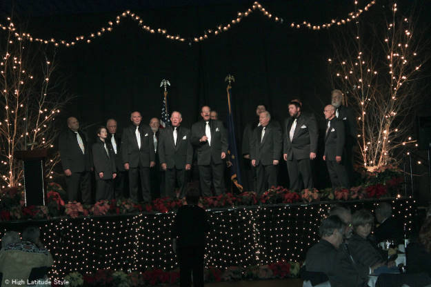 Great Land Sounds Men's Chorus singing a song