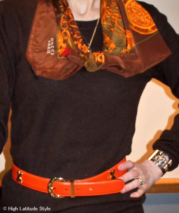 belt and scarf  | High Latitude Style | http://www.highlatitudestyle.com