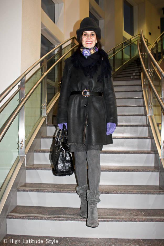 advanced fashion woman in outerwear