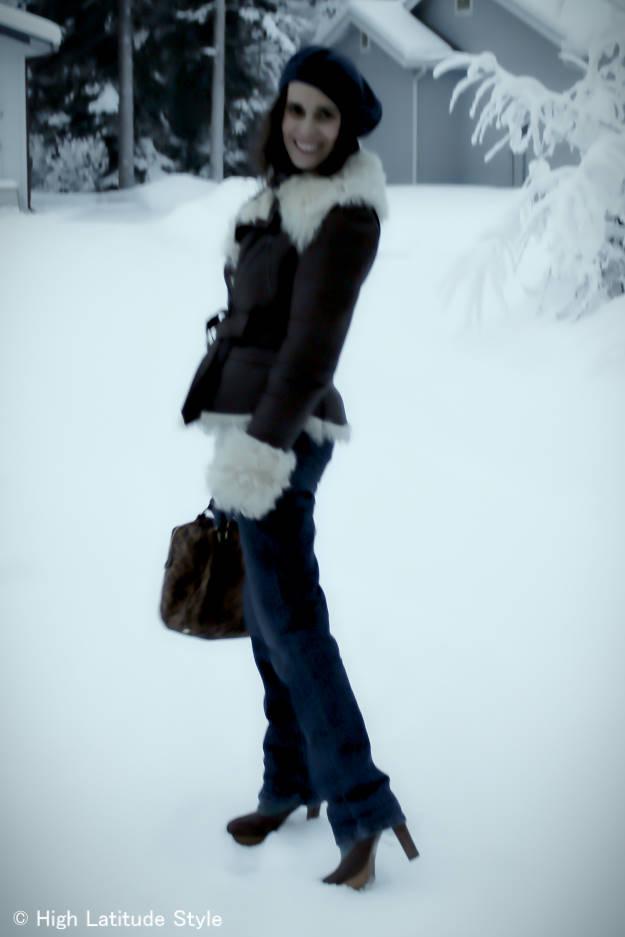#fashionover50 casual winter outerwear