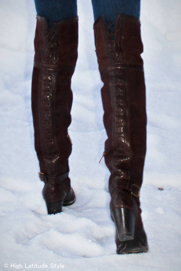 Dior over-the-knee boots #advancedstyle