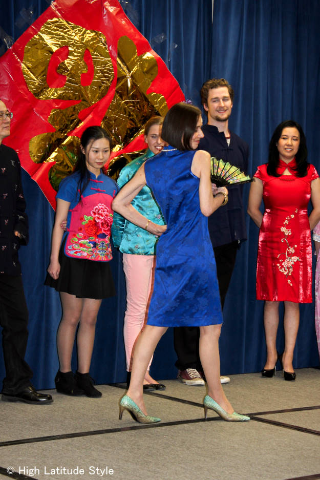 #over40model Modeling a Chinese dress | High Latitude Style | http://www.highlatitudestyle.com